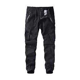 Men's Basic Daily Chinos Tactical Cargo Pants Solid Colored Sports Black Army Green Khaki US32 / UK32 / EU40 US36 / UK36 / EU44 US38 / UK38 / EU46