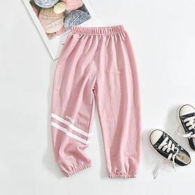 Kids Boys' Basic Striped Pants White