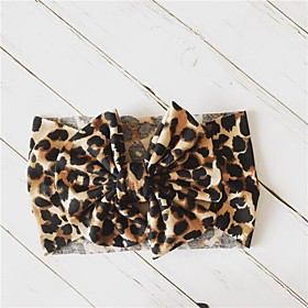 1pcs Toddler Girls' Basic Leopard Cotton Hair Accessories Yellow / Gray