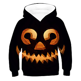 Kids Boys' Active Basic 3D Drawstring Long Sleeve Hoodie  Sweatshirt Black
