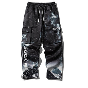 Men's Basic Daily Tactical Cargo Pants Galaxy Breathable Black M L XL