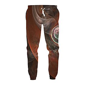 Men's Exaggerated Daily Casual Sweatpants Pants Pattern 3D Print Sporty Print Drawstring Sports Brown M L XL