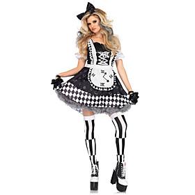 Halloween Carnival Oktoberfest Beer Trachtenkleider Women's Dress Apron Headwear Bavarian Vacation Dress Costume Black