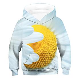 Kids Boys' Active Basic 3D Drawstring Long Sleeve Hoodie  Sweatshirt Yellow