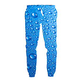 Men's Exaggerated Daily Casual Sweatpants Pants Pattern 3D Print Sporty Print Drawstring Sports Blue M L XL