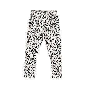 Kids Girls' Basic Leopard Print Pants Beige