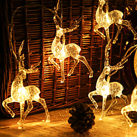 Christmas Decoration String Lights 1.5m 10LEDs Creative Sika Deer Battery Operated Fairy Lights Garden Holiday Decoration Lights