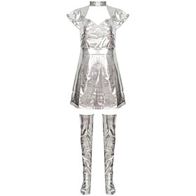 Costume Adults' Women's Sexy Vacation Dress Festival / Holiday Polyester Gray Women's Easy Carnival Costumes / Leg Warmers / Leg Warmers