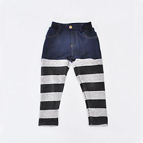 Toddler Girls' Basic Striped Pants Gray