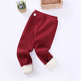 Kids Girls' Basic Red Solid Colored Pants Blue