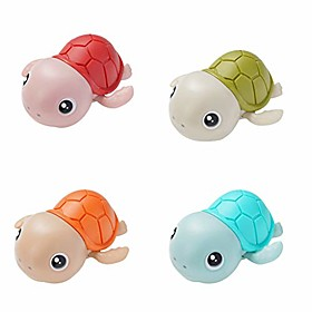 baby bath toy wind up bath toys turtle bathtub toys for toddlers floating toys eco-friendly material (4xturtle) Package Dimensions:1.01.01.0; Net Weight:0.24; Listing Date:10/16/2020