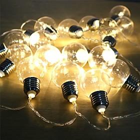 Globe Bulb String Battery Powered Outdoor Waterproof Fairy Light String Christmas Garland Wedding Garden Party