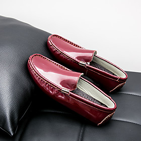 Men's Loafers  Slip-Ons Casual Daily Walking Shoes PU Breathable Non-slipping Wear Proof Wine / White / Black Fall