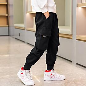 Kids Boys' Basic Solid Colored Pants Black