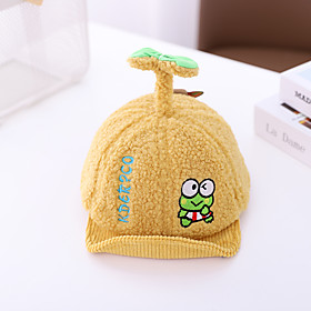 1pcs Toddler Unisex Active Cartoon / Letter Embroidered / Print Hats  Caps Blue / Yellow / Blushing Pink