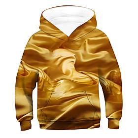 Kids Boys' Active Basic 3D Drawstring Long Sleeve Hoodie  Sweatshirt Gold