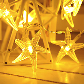 1.5m 10LEDs 3m 20 LEDs Fairy Star String Lights LED Garland Lights Battery Powered Christmas Lantern Outdoor Garden Wedding Girls Room Decoration Delivery With