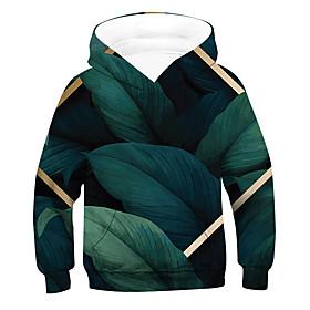 Kids Boys' Active Basic 3D Drawstring Long Sleeve Hoodie  Sweatshirt Green