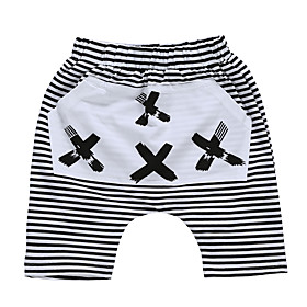 Kids Toddler Boys' Basic Striped Floral Print Shorts White