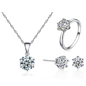 Women's Jewelry Set Fashion Imitation Diamond Earrings Jewelry White For Festival 1 set Gender:Women's; Quantity:1 set; Shape:Round; Style:Fashion; Jewelry Type:Jewelry Set; Occasion:Festival; Material:Imitation Diamond; Shipping Weight:0.01; Package Dimensions:13.013.01.0; Listing Date:03/25/2021