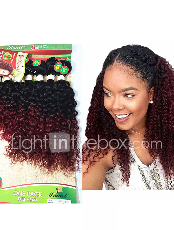 8 14inch 8 Pcs Lot Brazilian Deep Curly Ombre Burgundy Color Virgin Hair Brazilian Virgin Hair Kinky Curly Hair Weave Bundles Cheap Human Hair 5537042 2020 42 00