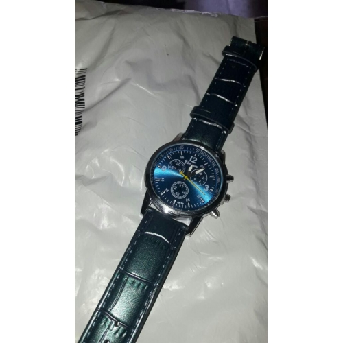 bb1d6b5c0072f رجالي ساعة المعصم مراقبة الطيران كوارتز جلد جلد اصطناعي أسود   الأبيض    أزرق ساعة كاجوال
