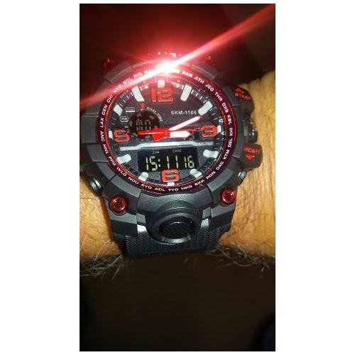 9d91856e81a SKMEI Pánské Náramkové hodinky Digitální hodinky Křemenný Digitální Pryž  Černá 30 m Voděodolné Alarm Kalendář Analog