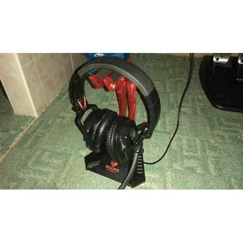 Head-mounted Display Rack Headphone Hanger Holder For Gamers Sades S-xlyz Gaming Headset Cradle Red Acrylic Headphone Bracket Stand