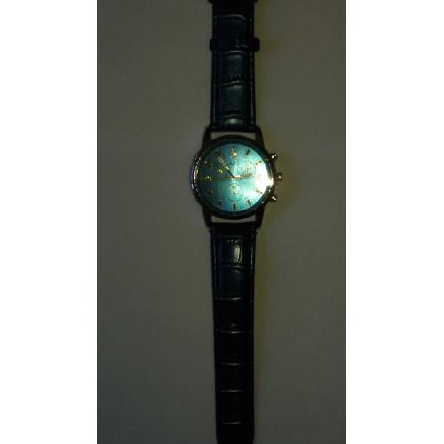 862ec96f6575d ... رجالي ساعة المعصم مراقبة الطيران كوارتز جلد جلد اصطناعي أسود   الأبيض    أزرق ساعة كاجوال