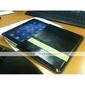 élégant étui de protection en cuir d'unité centrale pour Apple iPad (noir + jaune)