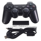 Wireless USB 2.4GHz  Game Controller with USB Receiver for PS3/PC (Black)