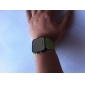 Silicone Band Women Men Unisex Jelly Sport Style Square Mirror LED Wrist Watch - Green Cool Watch Unique Watch