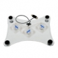 Ventilador Elegante Blanco para Portátil (Alimentación por USB)
