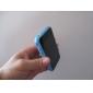бампер случае рамки для Apple iphone 4 с металлом кнопки - синий