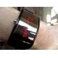 검은 색 실리콘 밴드 사각형 프레임 남여 빨간색 LED 스포츠 손목 시계