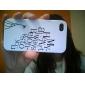 премии уникальный жесткий защитный футляр обратно для iphone 4 - мое сердце