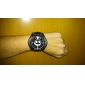 Military Black Leather Band Quartz Wrist Watch with Dismountable Case Cool Watch Unique Watch