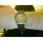 Fashionable Quartz Wrist Watch with Black Silicone Band