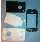 Etui de Protection Ultra-Solide + Protection d'Ecran LCD pour iPhone 4 - Blanc