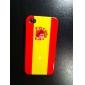 spain flag caso capa dura de proteção para Apple iPhone 4