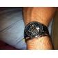 Masculino Relógio de Pulso Automático - da corda automáticamente Gravação Oca PU Banda Preta marca-