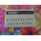 NEW Mini Slim Credit Card Solar Power Pocket Calculator - Army Green