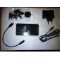 3600mah carregador de alumínio solar com lanterna para iphone / ipod / htc / samsung / outros celulares