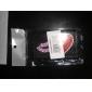 motif coeur de protection en PVC pour iPhone 4, 4s