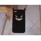 Дьявол защитный чехол силикагеля для iphone4 - черный
