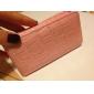 Защитный чехол из кожзама под змеиную кожу для iPhone 4 (розовый)