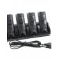 4-портовый USB зарядка станция + 4x1800mah аккумуляторные батареи для Wii / Wii и удаленные (черный)
