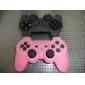 El estuche de silicona protectora para el controlador de PS3 (rosa)