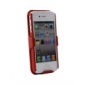 Shell + Holster Belt Clip Combo Case for iPhone 4 (Red)