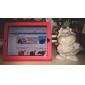 Etui Rigide en Cuir PU + Support pour iPad - Rouge
